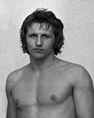Csaba Hegedűs (wrestler) - Hegedűs in 1974
