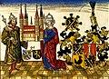 Heinrich u Kunigunde mit Bamberger Dom Holzschnitt 1484.jpg
