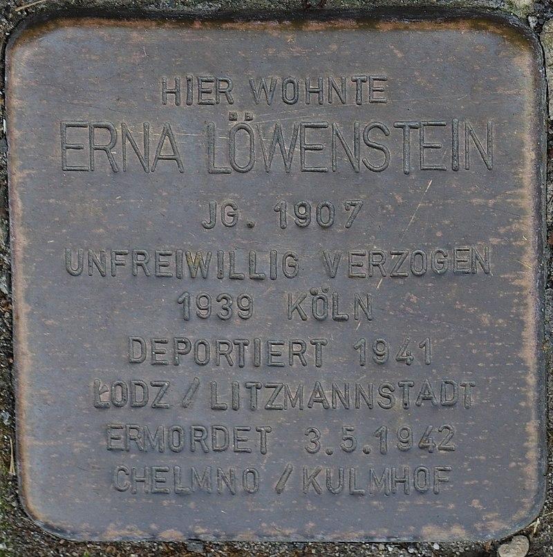Hellenthal, Kölner Str. 66, Stolperstein für Erna Löwenstein.jpg