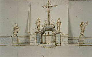 Variation on a design for a gate to the Cemetery of Our Lady