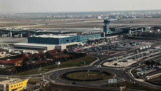 international airport serving Bucharest, Romania