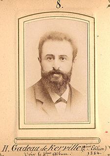 Henri Gadeau de Kerville French zoologist, entomologist, botanist and archeologist
