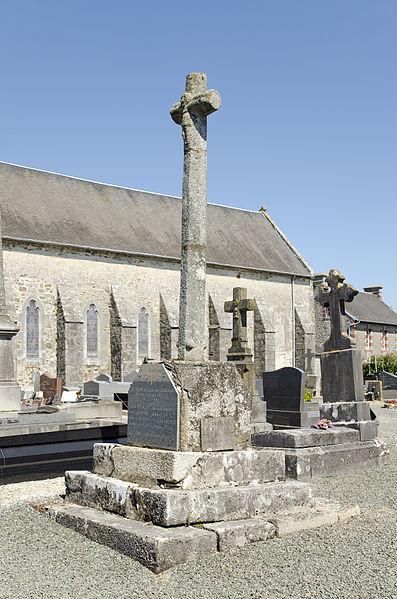 Cemetery cross - Hérenguerville, Manche, France