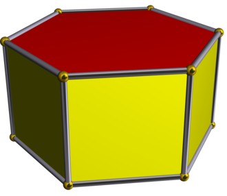 Wythoff construction - Image: Hexagonal prism