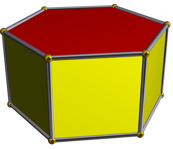 Square Prism Shape Hexagonal prism