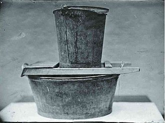 Hilda Nilsson - The washtub, washboard, and coal scuttle that Nilsson used to drown the children.
