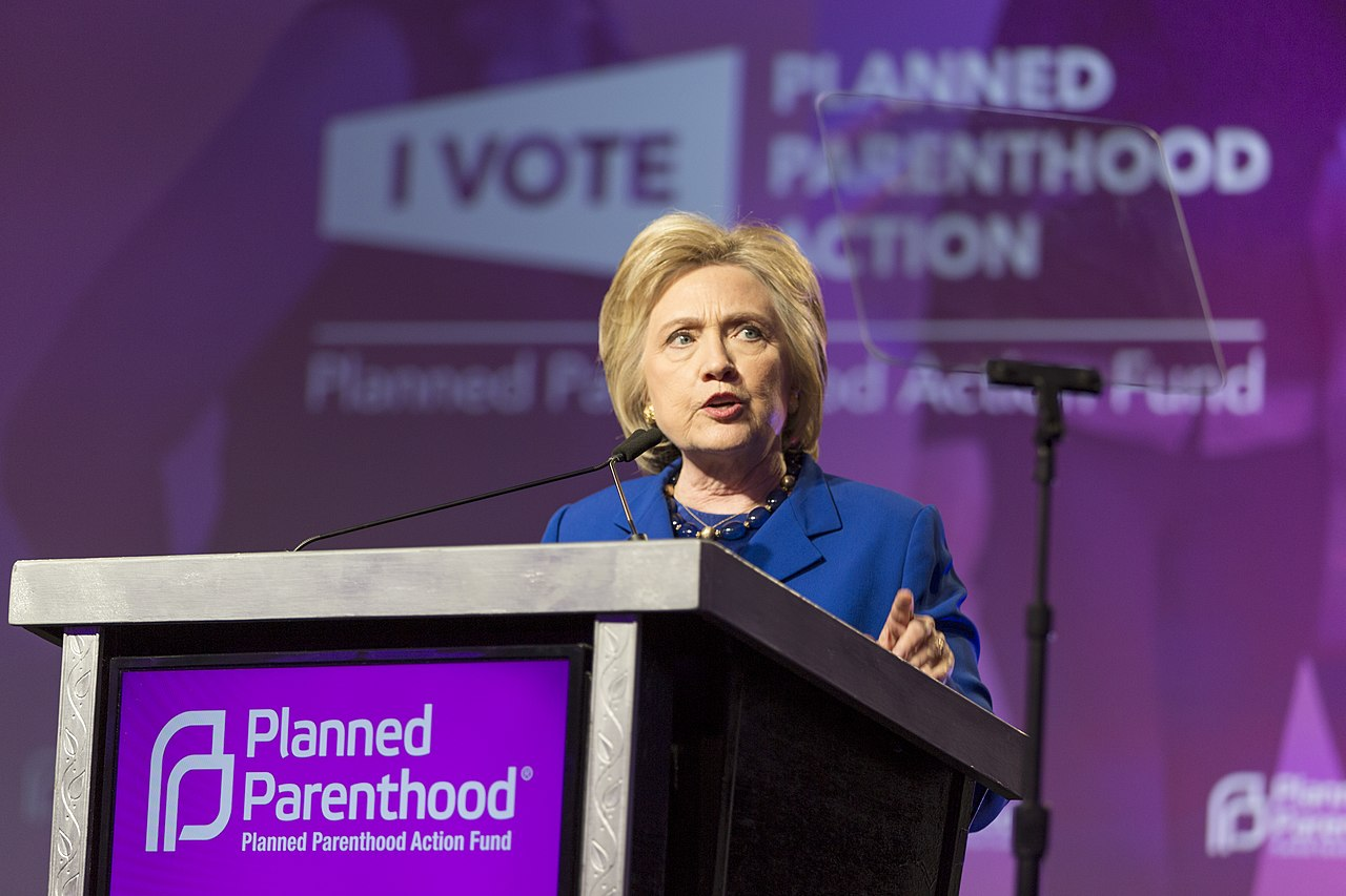The trend of murdering innocent babies in the womb will continue to grow worse if the very prominent cheerleader for Planned Parenthood, Hillary Clinton, becomes America's next president. Photo from Wikipedia.