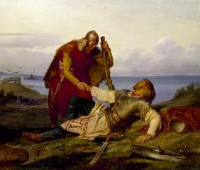 Les adieux de Hjalmar à Orvar Odd après la bataille de Samsö