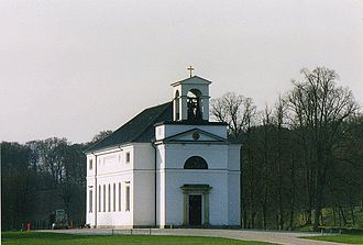 Hirschholm Palace - Hørsholm Church from 1883, now standing at the site of the former palace