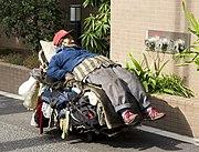 Homeless man, Tokyo, 2008