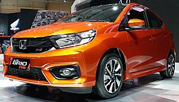 Honda Brio RS - Gaikindo Indonesia International Auto Show 2018 - Front view - August 9 2018.jpg