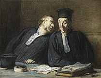 Honoré Daumier - Two Lawyers Conversing - Google Art Project.jpg