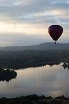 Hot air balloon over Lake Burley Griffin 1.JPG