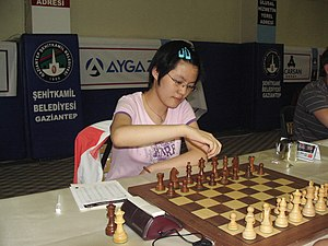 Hou Yifan - Hou Yifan at the 2008 World Junior Chess Championship, Gaziantep, Turkey where she gained a GM norm.