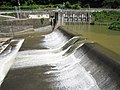 Hozumi Power Station weir 2.jpg