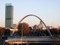 Hulme Arch Bridge and Beetham Tower, Manchester