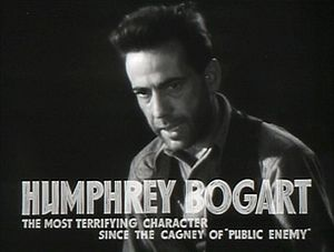 The Petrified Forest - Image: Humphrey Bogart in The Petrified Forest film trailer