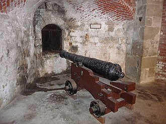 Hurst Castle - Gun embrasure in the 16th-century castle