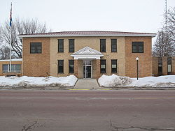 The Hutchinson County courthouse.