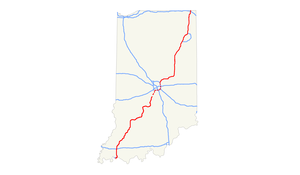 Interstate 69 in Indiana - Image: I 69 (IN) map