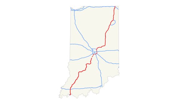 I69 Indiana Map.Interstate 69 In Indiana Wikiwand