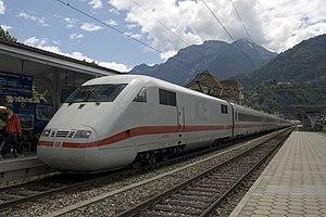 Interlaken West railway station - German ICE train at Interlaken West