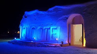 Ice hotel - IGLOOTEL Entrance Area