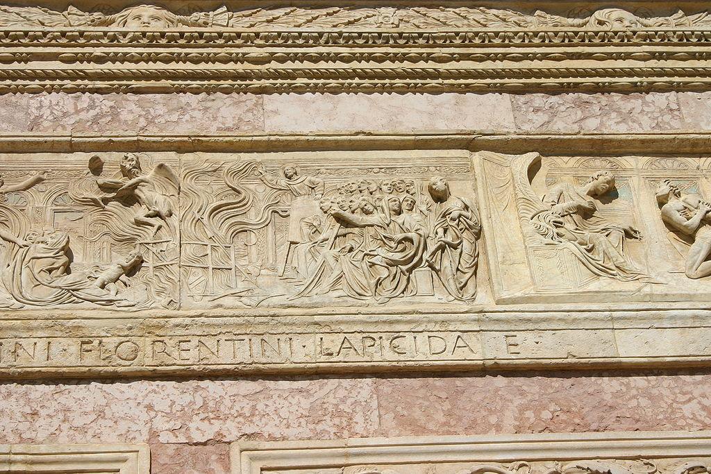 IMG 0797 - Perugia - San Bernardino - Agostino di Duccio -1457-61- - Falò delle vanità - Foto G. Dall'O2