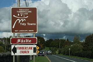 Tubberclare Town in Leinster, Ireland