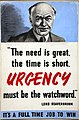 INF3-121 War Effort Lord Beaverbrook - Urgency must be the watchword.jpg