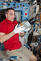 ISS-36 Chris Cassidy with the Marangoni Inside experiment.jpg