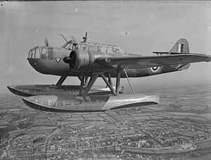 An RAF Fokker T.VIII, operated by No. 320 Squadron