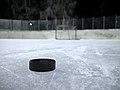 Ice hockey puck on ice 20180112.jpg