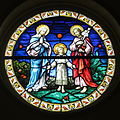 Immaculate Conception Catholic Church (Port Clinton, Ohio) - stained glass, Holy Family.JPG