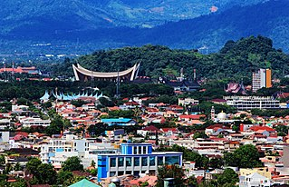 Padang City in West Sumatra, Indonesia