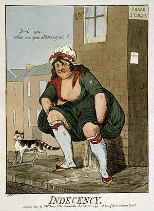 """Indecency"" Cartoon print showing a ..."