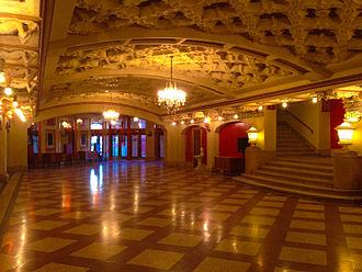 Indiana Theatre (Terre Haute, Indiana) - Indiana Theatre lobby ballroom