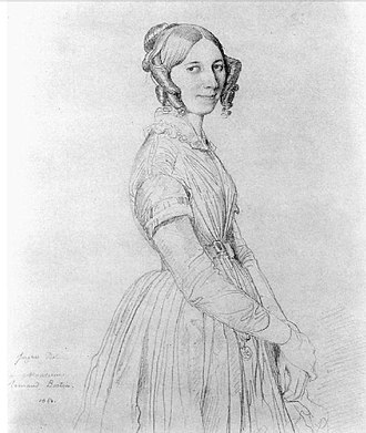 Portrait of Monsieur Bertin - Ingres, Portrait of Mme Armand Bertin née Cécile Dollfus, 1843. Private collection