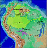 New World river dolphin range map