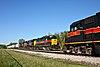 Two Iowa Interstate Railway locomotives near Altoona, Iowa