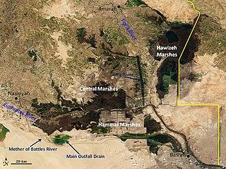 Mesopotamian Marshes - Mesopotamian Marshes in 2007