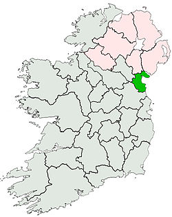 Location of Coonty Louth