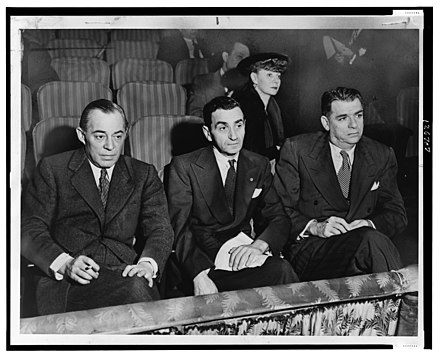 Irving Berlin, Rodgers and Hammerstein, and Helen Tamiris watching music theater auditions Irving Berlin Portrait.jpg