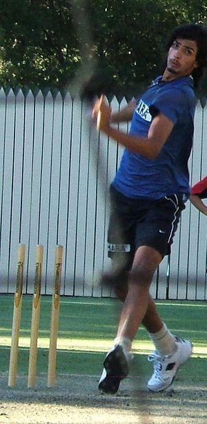 Ishant Sharma - Sharma bowling in the nets in 2008