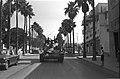 Israeli tanks passing through Tiberias on their way into action on the Syrian border. June 1967. D327-094.jpg