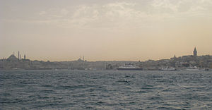 Looking into the Golden Horn from the Bosphoru...