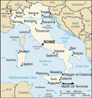 Location map Italy