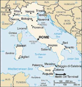 Italy-CIA WFB Map
