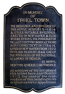 Ithiel Town memorial plaque in the Center Church on the Green, New Haven, Connecticut - 20120429.jpg