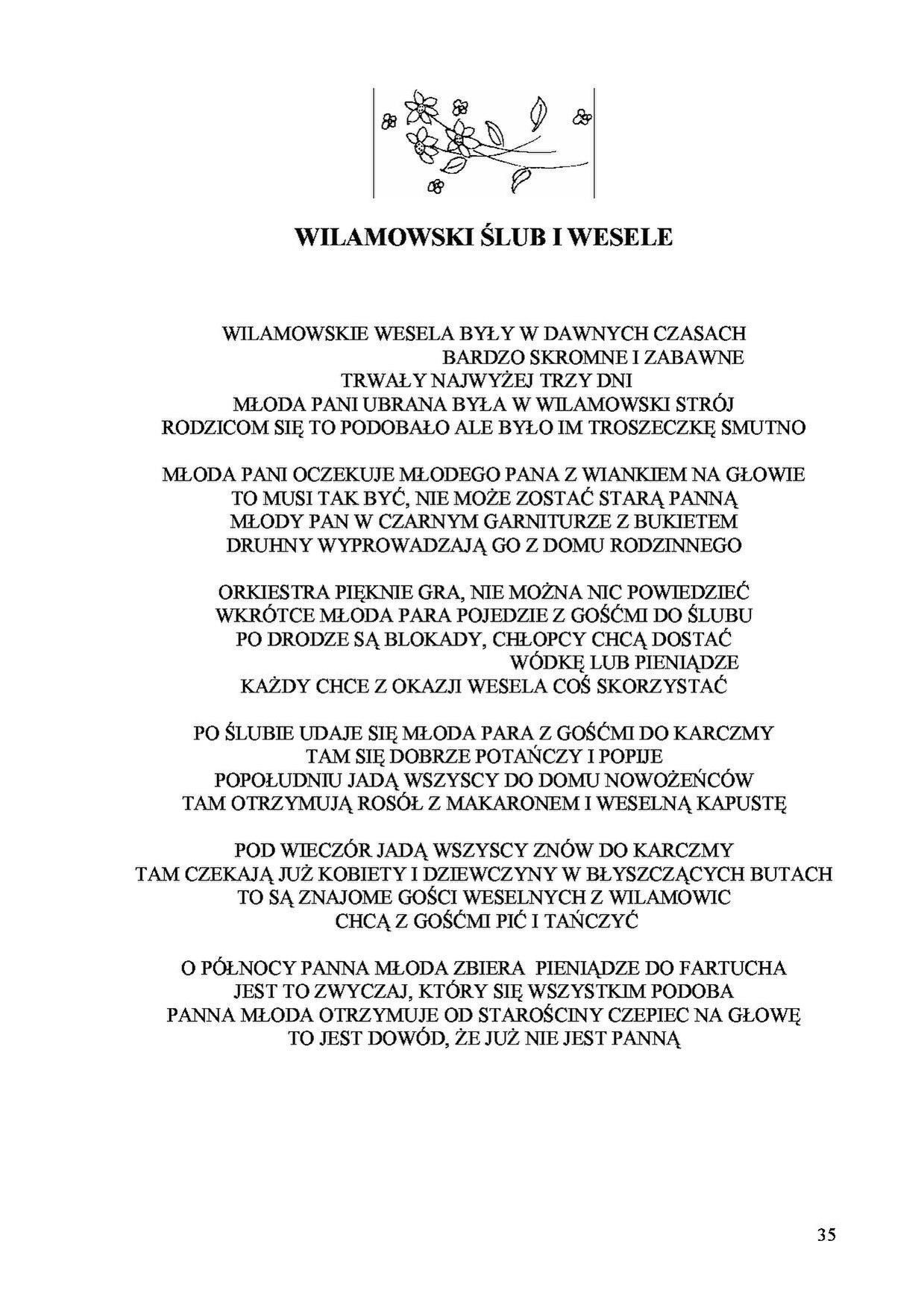Pagejózef Gara Zbiór Wierszy O Wilamowskich Obrzędach I